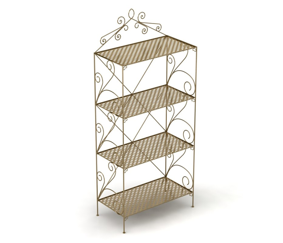 c4d bookcase metal