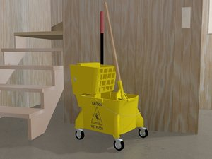 3d model mop bucket