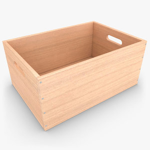 max realistic wooden box 03