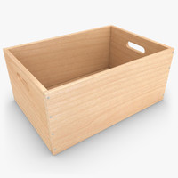 3d model realistic wooden box 03