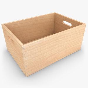 3d model realistic wooden box 03