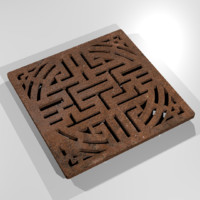 rusty sewer grate fbx free