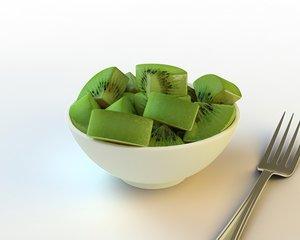 54 sliced kiwifruit 3d model