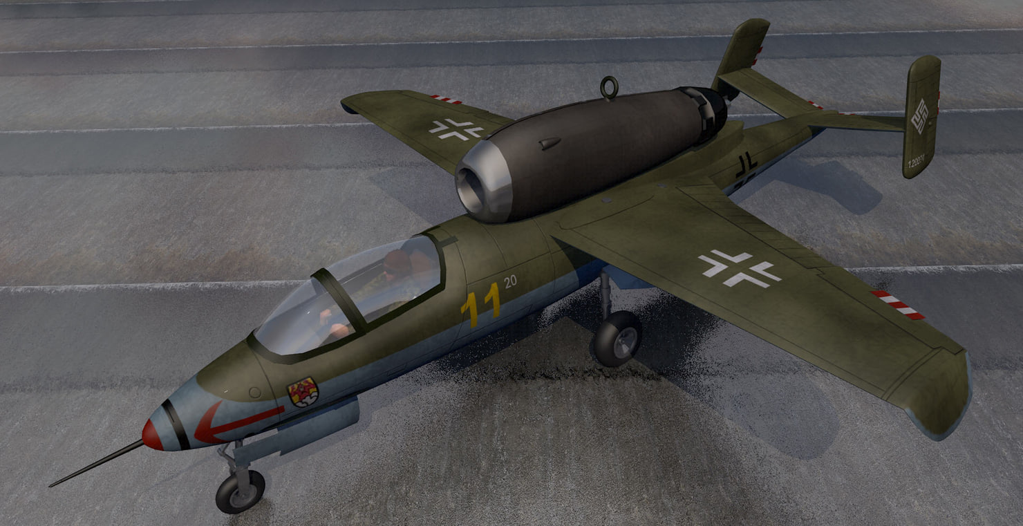 heinkel he-162a jet fighter 3d 3ds