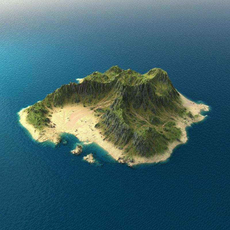tropical island terrain 1 3d max