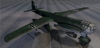 3d junkers ju-287v-1 bomber model
