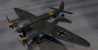 junkers ju-88a-4 bomber 3d 3ds