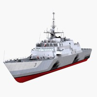 3d model uss fort worth lcs-3