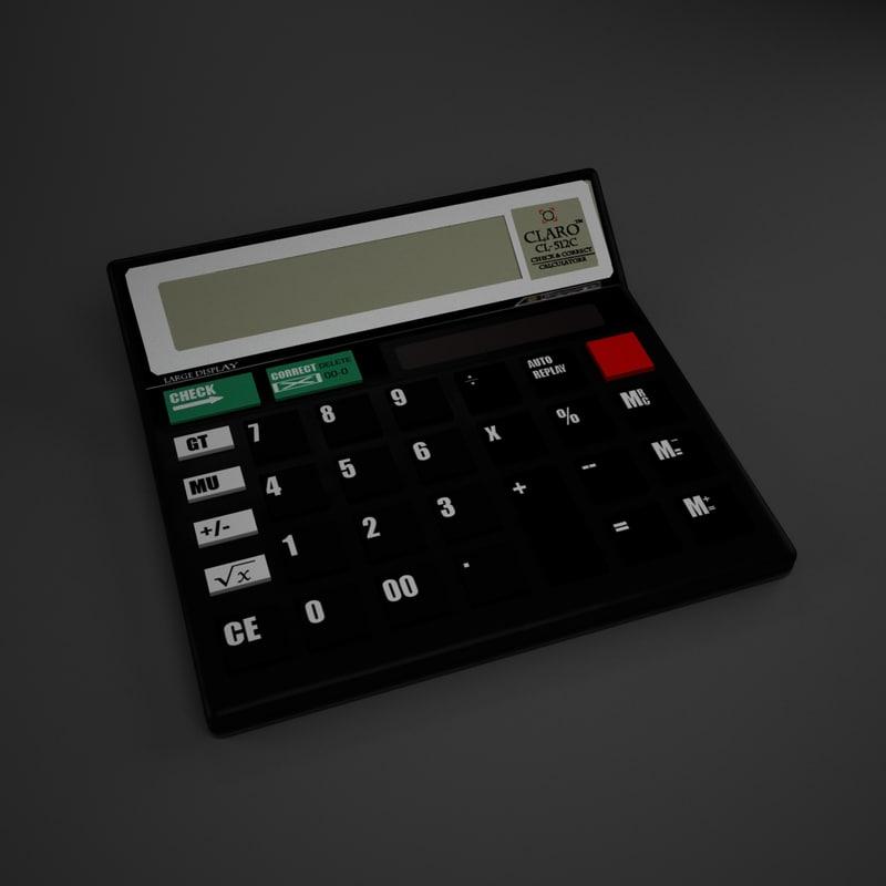 3d model of scientific calculator