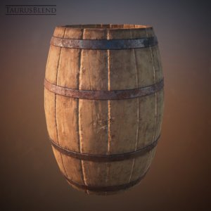 pirate gunpowder barrel bars 3d 3ds