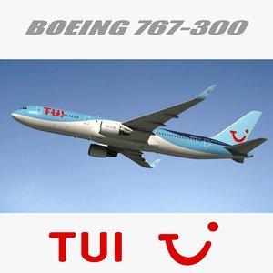 3d model boeing 767 300 tui