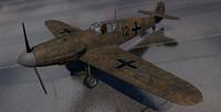 3d messerschmitt fighter aircraft model