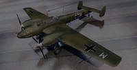 3d messerschmitt bf-110c-3 fighter aircraft model
