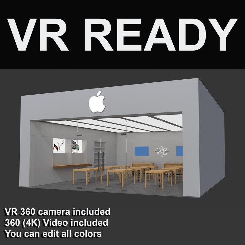3d model apple store vr