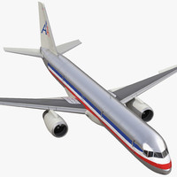 boeing 757-200f american airlines 3d model