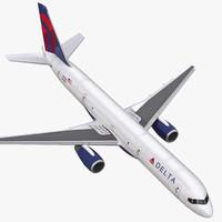 3d model boeing 757-200f delta air lines