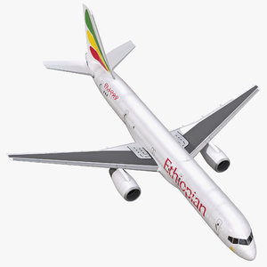 3d boeing 757-200f ethiopian airlines model