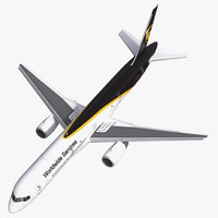 boeing 757-200f ups airlines 3d model