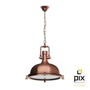 max photorealistic boston industrial pendant lamp