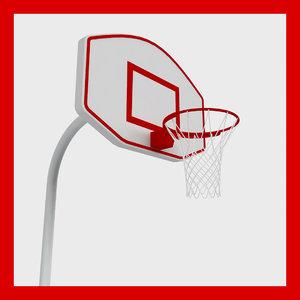 3d basketball rim model
