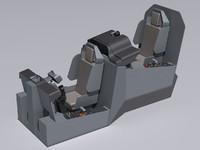 3d model ah-64d cockpit