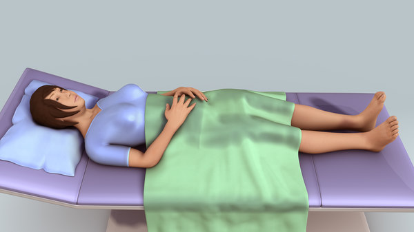3d model patient laying bed