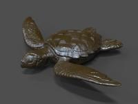 turtle statue obj