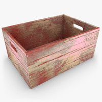 realistic wooden box 03 max