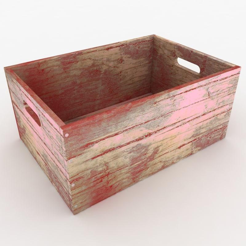 realistic wooden box 03 max