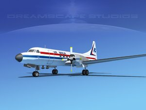 3d model of propellers convair cv-580