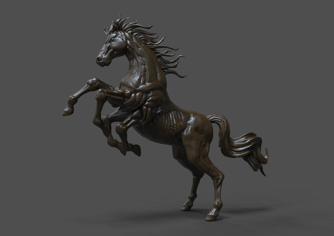 3d horse sleipnir statue