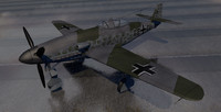 3d messerschmitt me-309 fighter aircraft