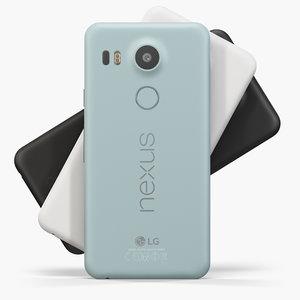lg nexus 5x 5 3d max