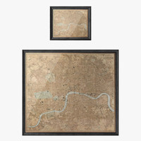 Restoration Hardware Circa 1980 London Map