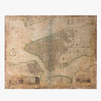Restoration Hardware Grand Canvas Library Map-New York