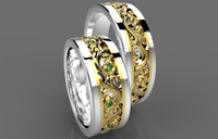 wedding rings gold 007