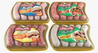 sausage meat package 3d model