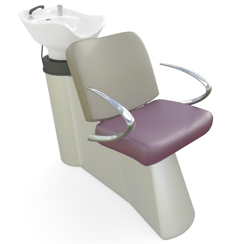 salon chair sink 3d obj
