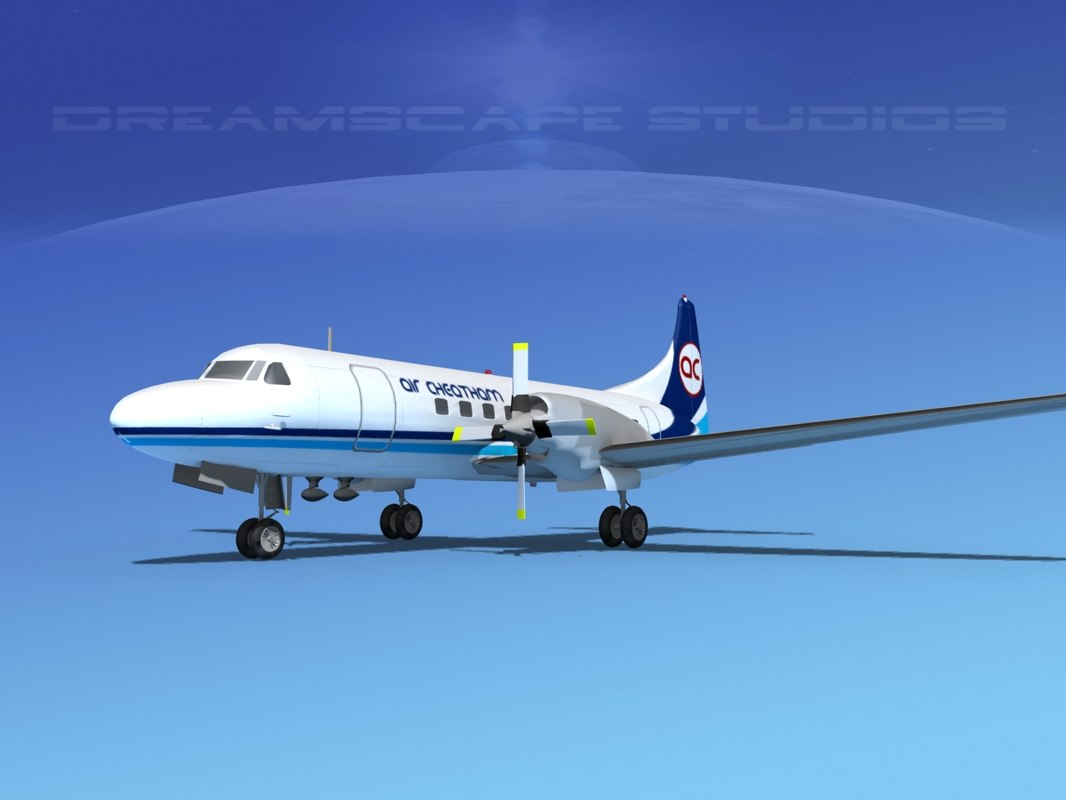 3ds propellers convair cv-580