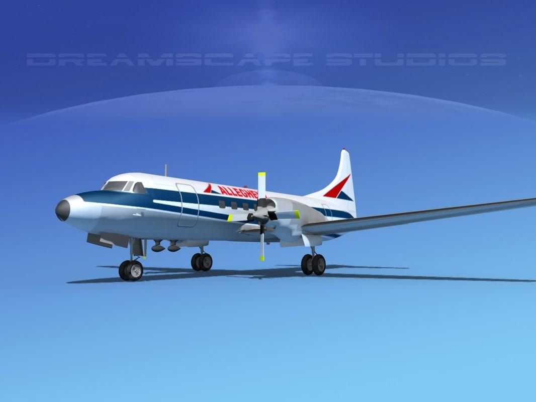 3d 3ds propellers convair cv-580