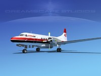 3d model propellers convair cv-580