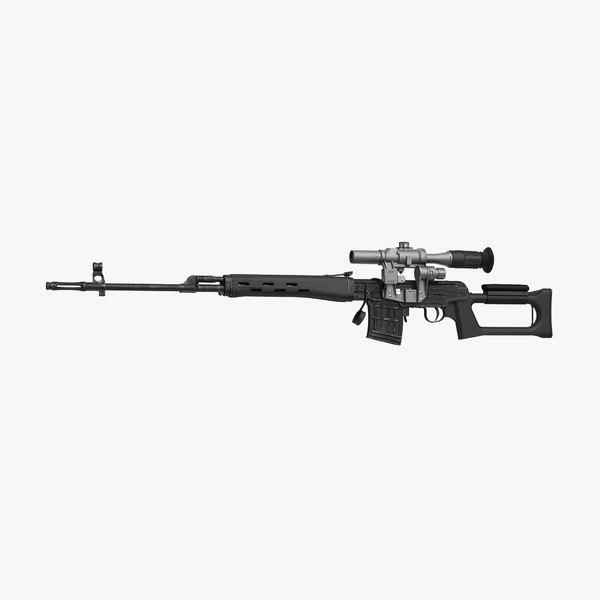 3d model dragunov sniper rifle svd