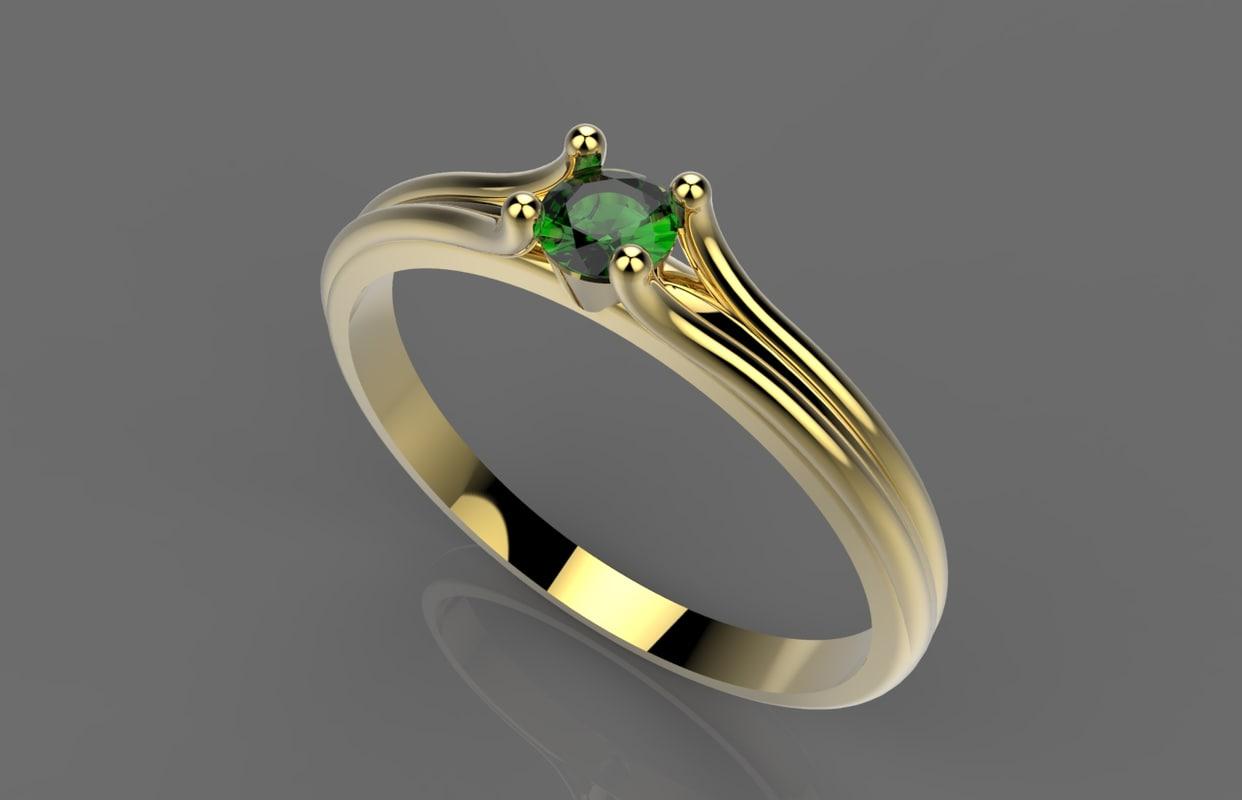 3d ring izumrud