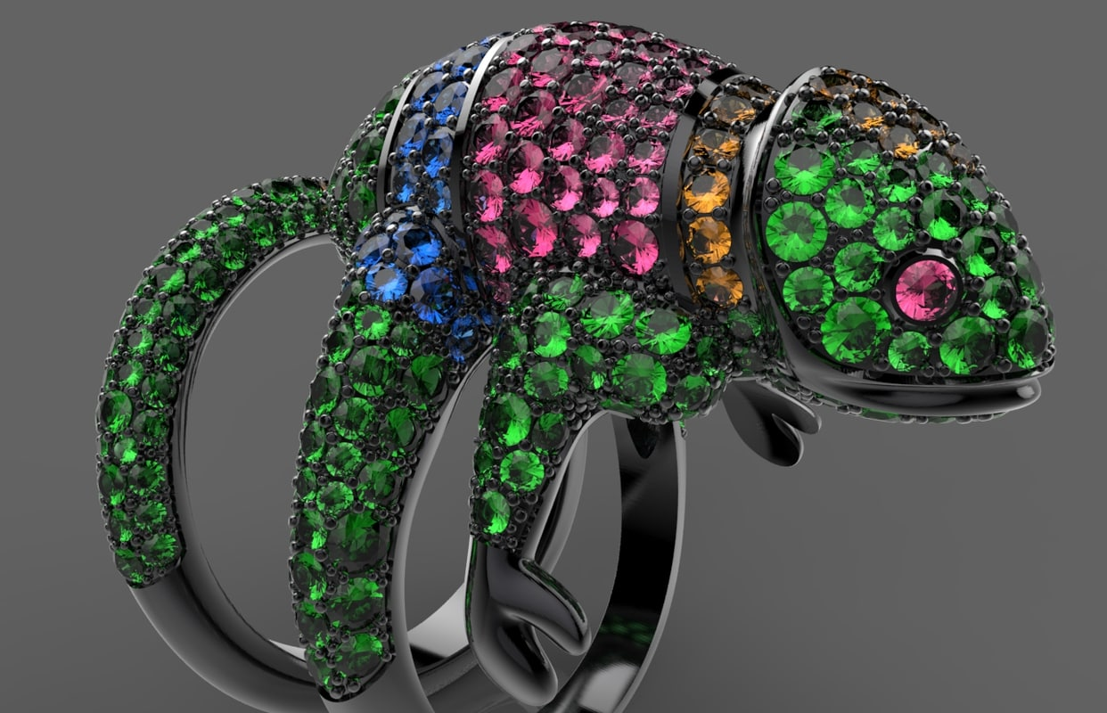 3d ring boucheron model
