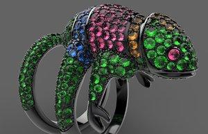 3d ring boucheron model