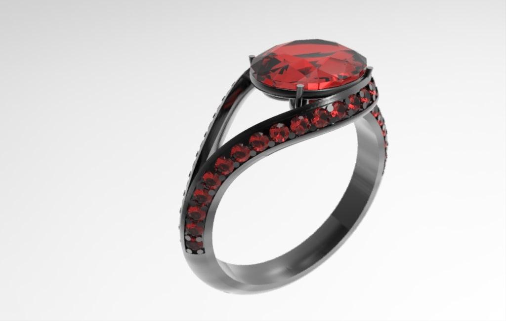 ring rubin gold 3d 3ds