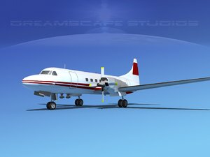 3d obj propellers convair cv-580