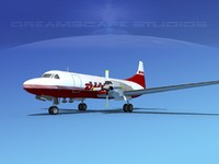 propellers convair cv-580 3d dxf