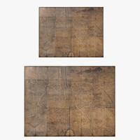 Restoration Hardware Turgot's 1739 Plan De Paris Decoupage Map