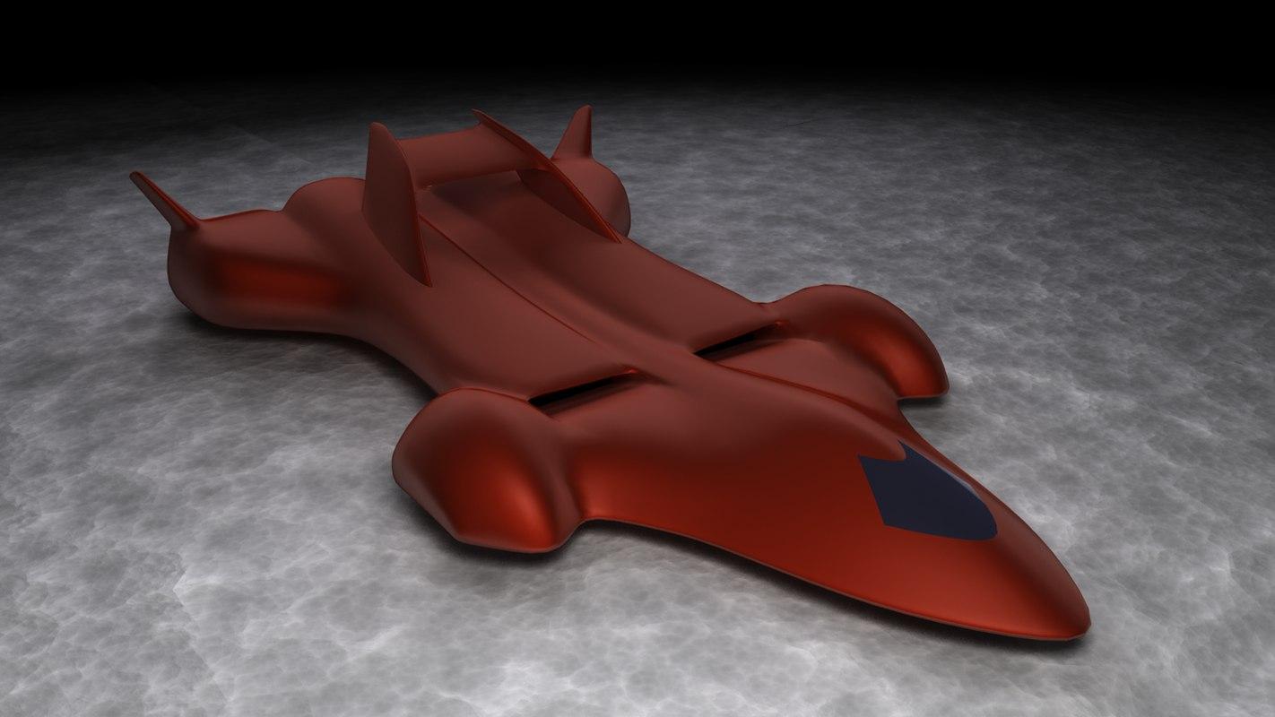 3d model of supersonic car concept